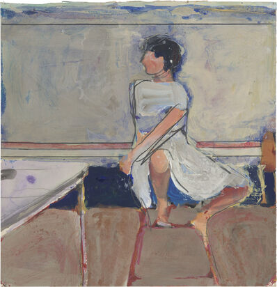 Richard Diebenkorn, 'Untitled (Woman on Stool)', 1965