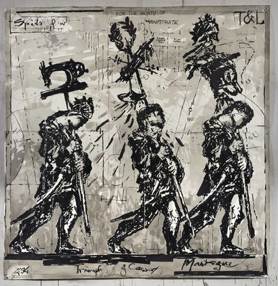 William Kentridge, 'Mantegna (Drawing for Triumphs and Laments)', 2016