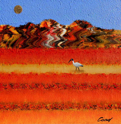 Peter Coad, 'Ibis Study - Chinamans Well'