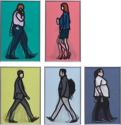 Julian Opie, 'Walking in London 1', 2014