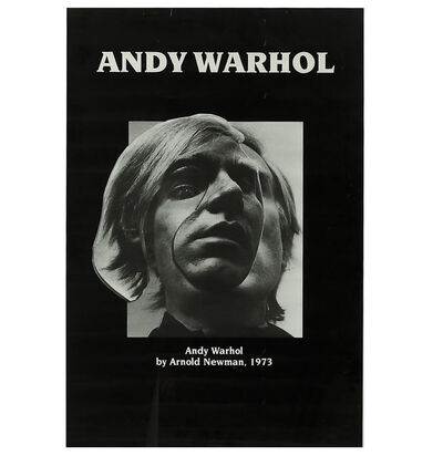 "Arnold Newman, '""Andy Warhol- by Arnold Newman 1973"", Exhibition Poster', 1973"