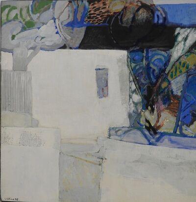 Gabriel Godard, 'Maisons et arbres bleus', 1975