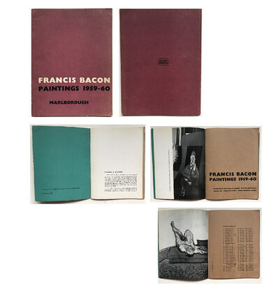 "Francis Bacon, '""Francis Bacon- Paintings 1959-60"", Exhibition Catalogue, Marlborough Gallery London', 1960"