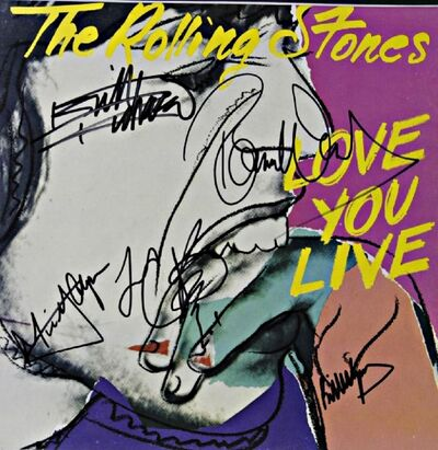 Andy Warhol, 'Love You Live (Signed by all Five Rolling Stones)', 1977