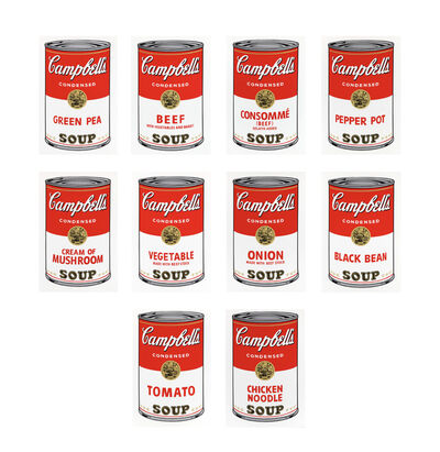 After Andy Warhol, 'Campbell's Soup Can I (Complete Set of 10)', 2018