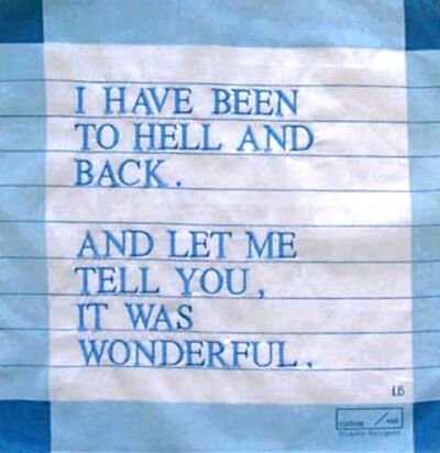 Louise Bourgeois, 'I Have Been to Hell and Back Handkerchief', 2007