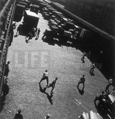 Andreas Feininger, 'Playing Ball Outside Hudson River Pier Sheds,New York', 1949