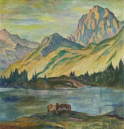 Clara Porges, 'Lago Cavloccio con Cavalli', no year