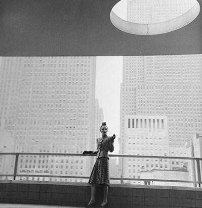 Louise Dahl-Wolfe, 'Rita Touhy on Balcony of the MoMA', 1940