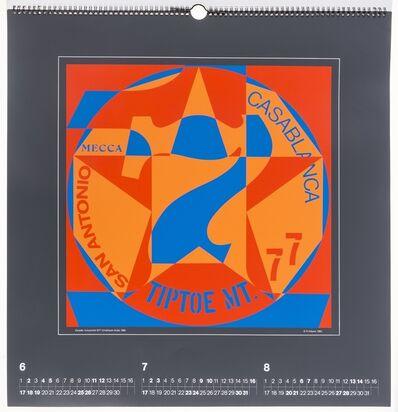 Robert Indiana, 'Domberger Siebdruckkalender (Domberger screenprint calendar)', 1983