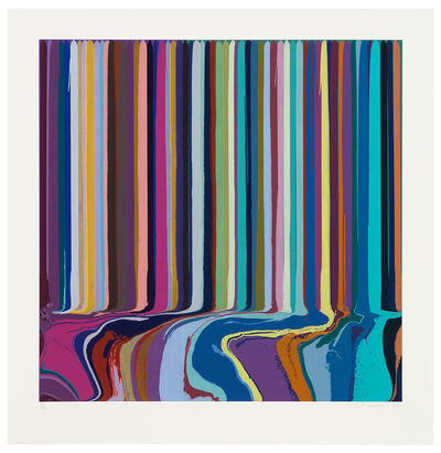 Ian Davenport, 'Duplex Etching: Purple, Green', 2014