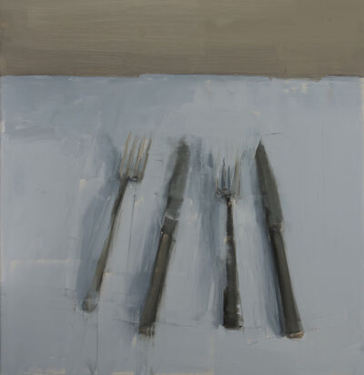 Carrie Mae Smith, 'Two Forks and Two Knives, Two Pairs'
