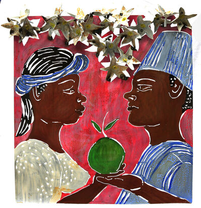 Sokari Douglas Camp, 'Eve's conversation (hat up), from the Frangipani series ', 2017