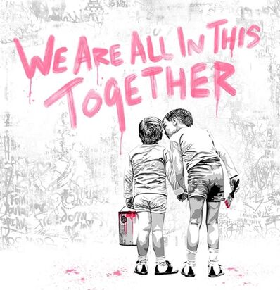 Mr. Brainwash, 'We are all in this together (Fuchsia Edition)', 2020