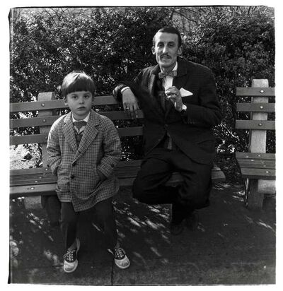 Diane Arbus, 'Man and Boy on a Bench in Central Park, New York City', 1962