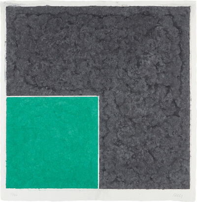 Ellsworth Kelly, 'Colored Paper Image XVII (Green Square with Dark Grey), from Colored Paper Images', 1976