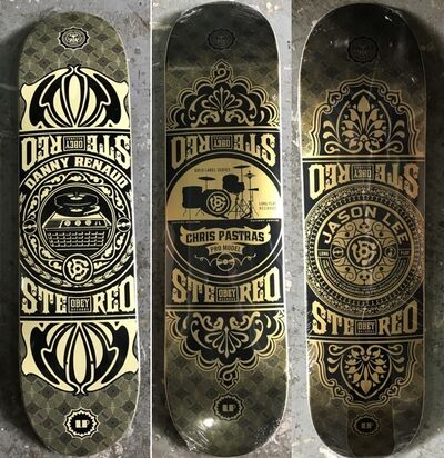 Shepard Fairey X Stereo Skateboard, 'Untitled (set of 3)'