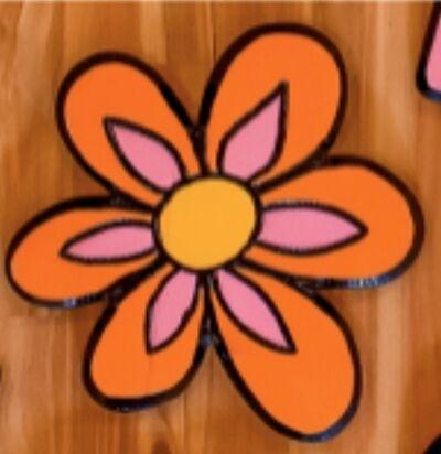 """Lacey Micallef, '""""Orange Vintage Flower""""', 2019"""