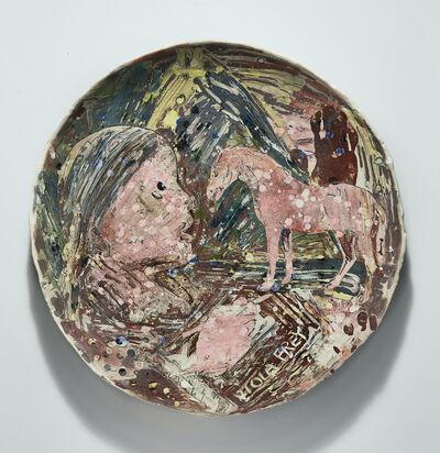 Viola Frey, 'Untitled (Viola Profile, Hand Drawing Horse)', 1978