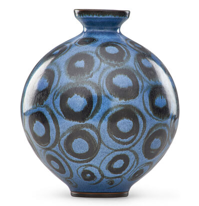 Rupert J. Deese, 'Bulbous vase with circles, Claremont, CA'