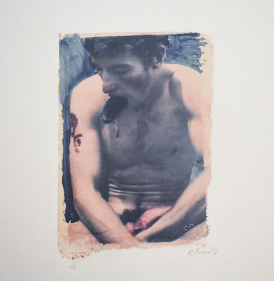 Mark Beard, ' Untitled 29 (Polaroid Transfer of Young Nude Male on Rives BFK)', 1998