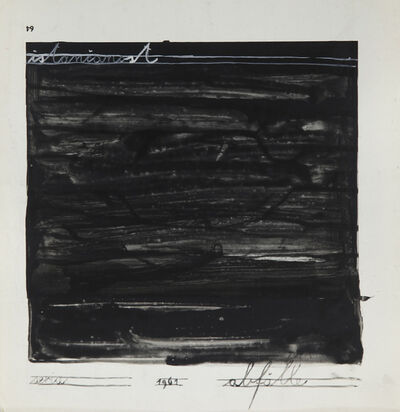 Mangelos, 'istančanost (refinement) from the series 'Abfälle'', 1961