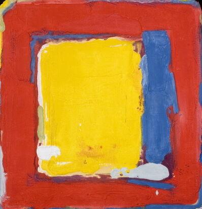 Bram Bogart, 'Geel en blauw in rood', 1989