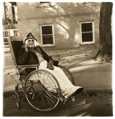 Diane Arbus, 'Masked Woman in a Wheelchair, PA', 1970