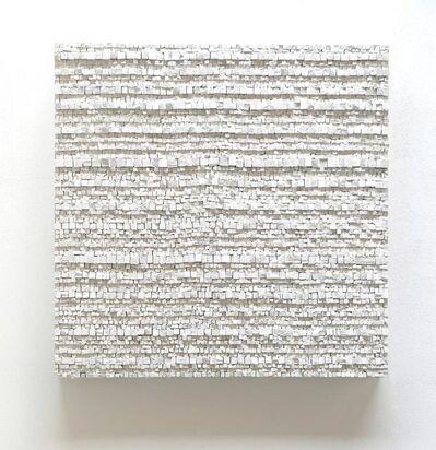 Reiner Seliger, 'Kreidebild Muro weiß, groß', 2017