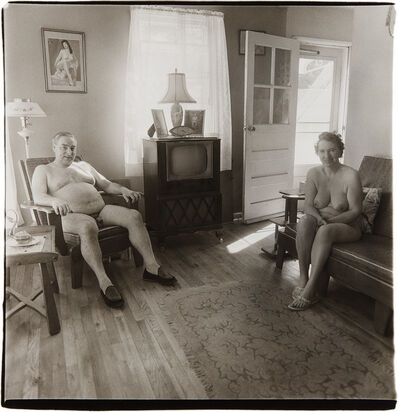 Diane Arbus, 'Retired man and his wife at home in a nudist camp one morning, N.J.', 1963