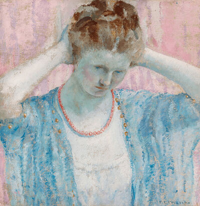 Frederick Carl Frieseke, 'The Coral Necklace', ca. 1917