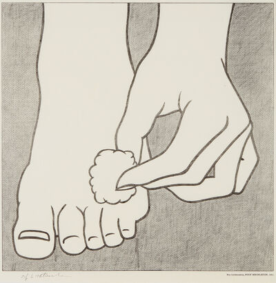 Roy Lichtenstein, 'Foot Medication Poster', 1963