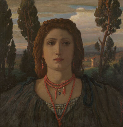 Elihu Vedder, 'The Coral Necklace, Italy', 1898