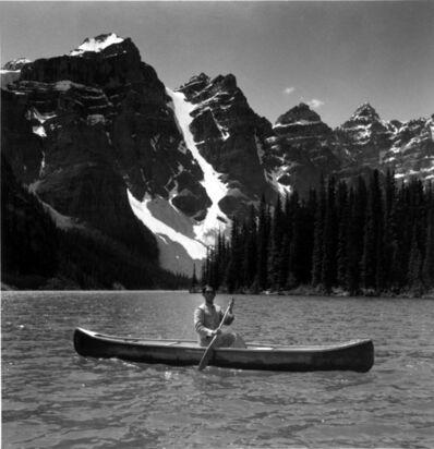 Tseng Kwong Chi, 'Lake Moraine, Canada (Canoe Mountain, Alberta)', 1986