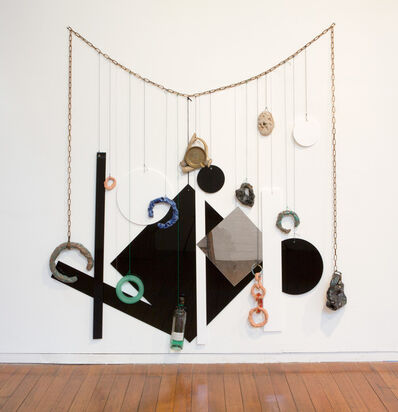 Mikala Dwyer, 'Green Fairy Necklace for Wall', 2015