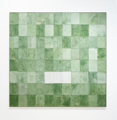 Robert Courtright, 'Collage Construction (Untitled - Green)', 1988