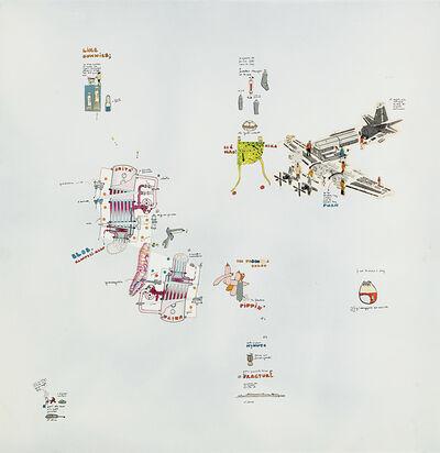 Gianfranco Baruchello, 'Priorità assoluta al gesto isterico', 1969