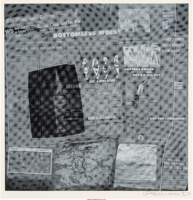 Robert Rauschenberg, 'Surface Series from Currents, Bottomless Woes', 1970
