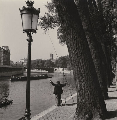 Albert Monier, 'Fisherman on the Seine on Ile Saint-Louis, Paris', 1950s/1950s