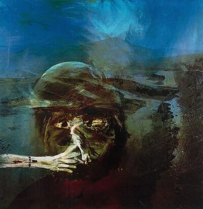 Sidney Nolan, 'Miner Smoking from The Miner Series', 1973