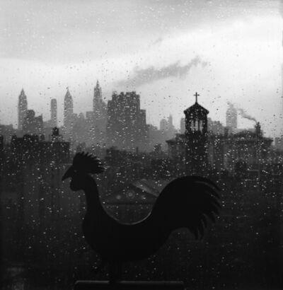 André Kertész, 'Weather Vane and New York Skyline, September 19', 1952