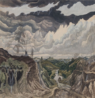 Charles Ephraim Burchfield, 'Jaws of the World', 1920