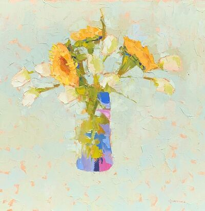 Carol Maguire, 'Sunflowers and Tulips', 2019