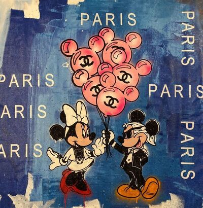 Skyler Grey, 'Mickey and Minnie's Balloons in Paris Blue', 2019