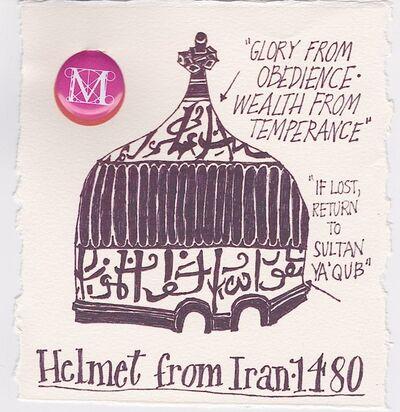 Victoria Behm, 'Helmet from Iran - 1480', ca. 2012