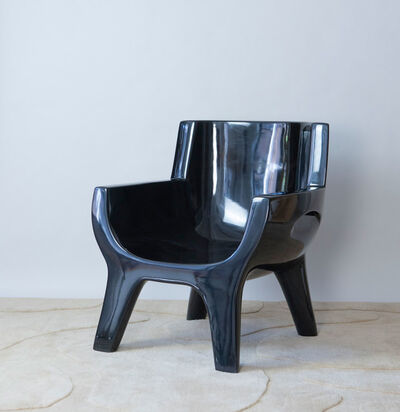 "Jacques Jarrige, 'Sculpted lacquered ARMCHAIR ""Aubrac"" by Jacques Jarrige ', 2018"