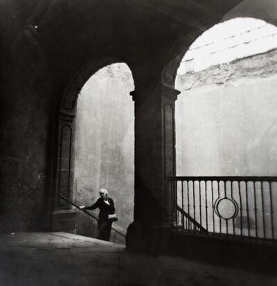 Kati Horna, 'Escalera con Anciana, Espana 1934', 1934