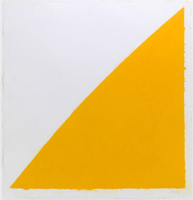 Ellsworth Kelly, 'Colored Paper Image XIV (Yellow Curve)', 1976