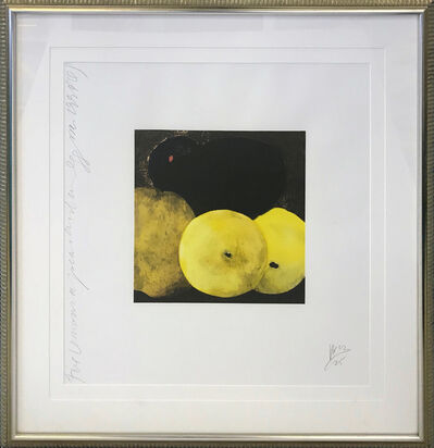 Donald Sultan, 'FIVE LEMONS, A PEAR, AND AN EGG', 1994