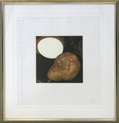Donald Sultan, '2 PEARS, A LEMON, AND AN EGG', 1994